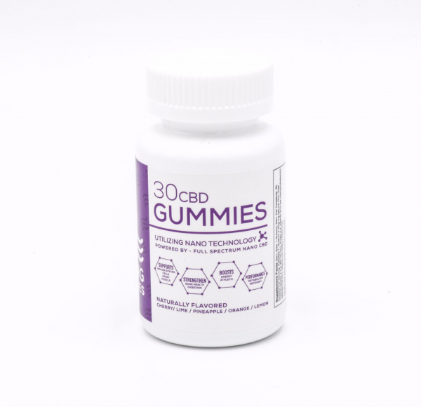 cbd living gummies bottle side
